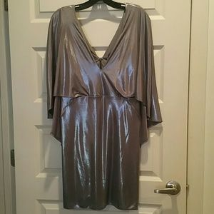 NWT Halston metallic dress